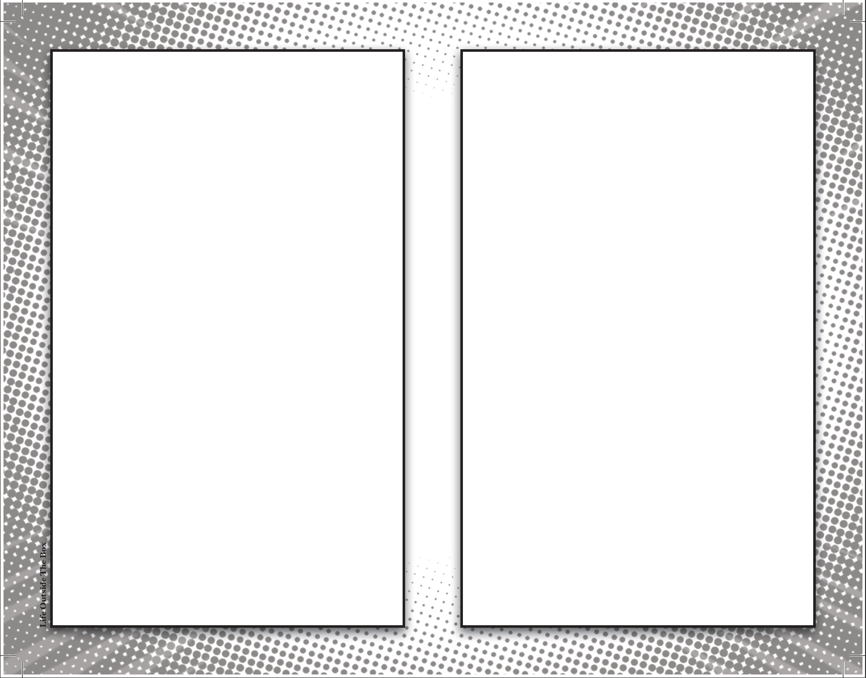 blank comic panel 85 x 11 with two frames per page