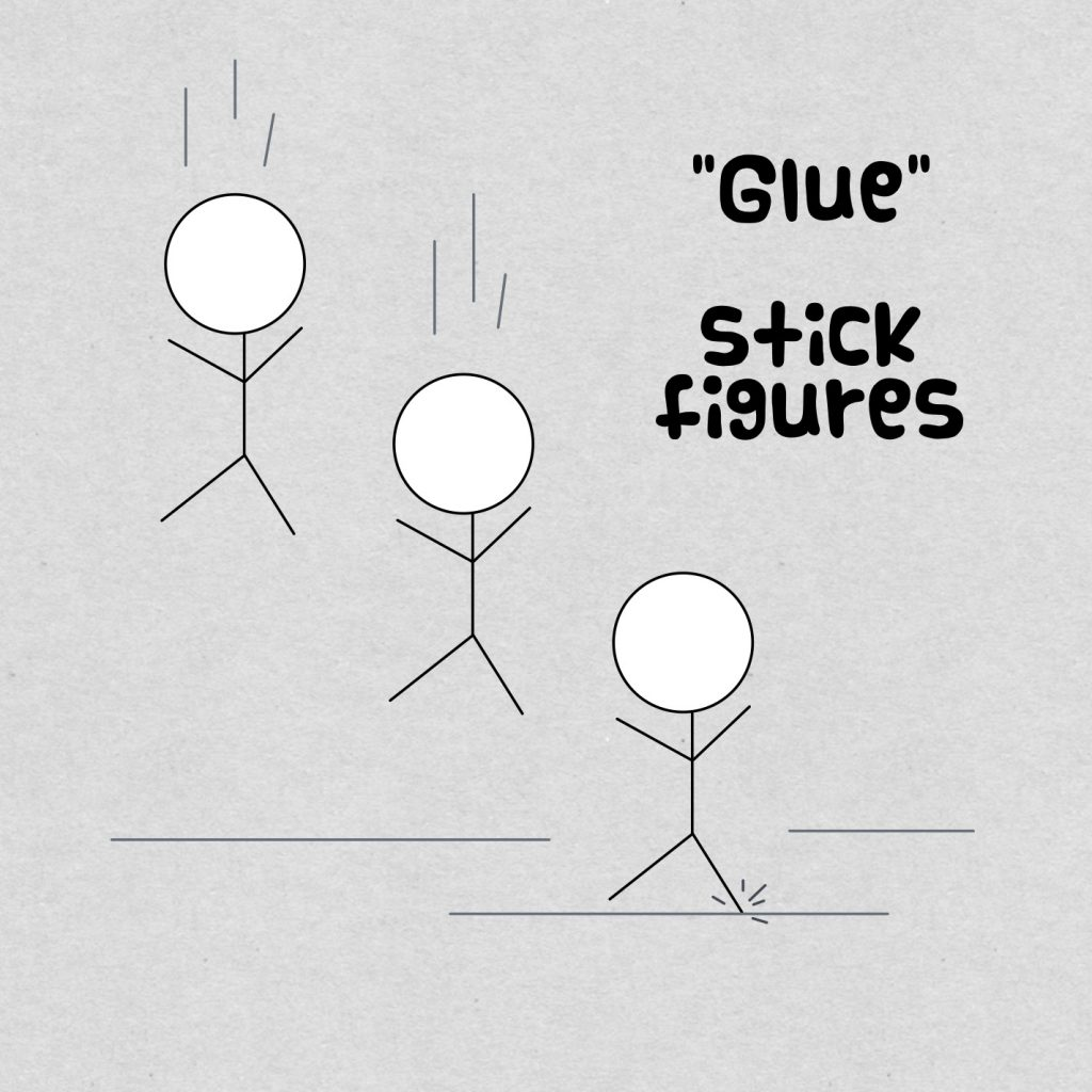 glue stick figures