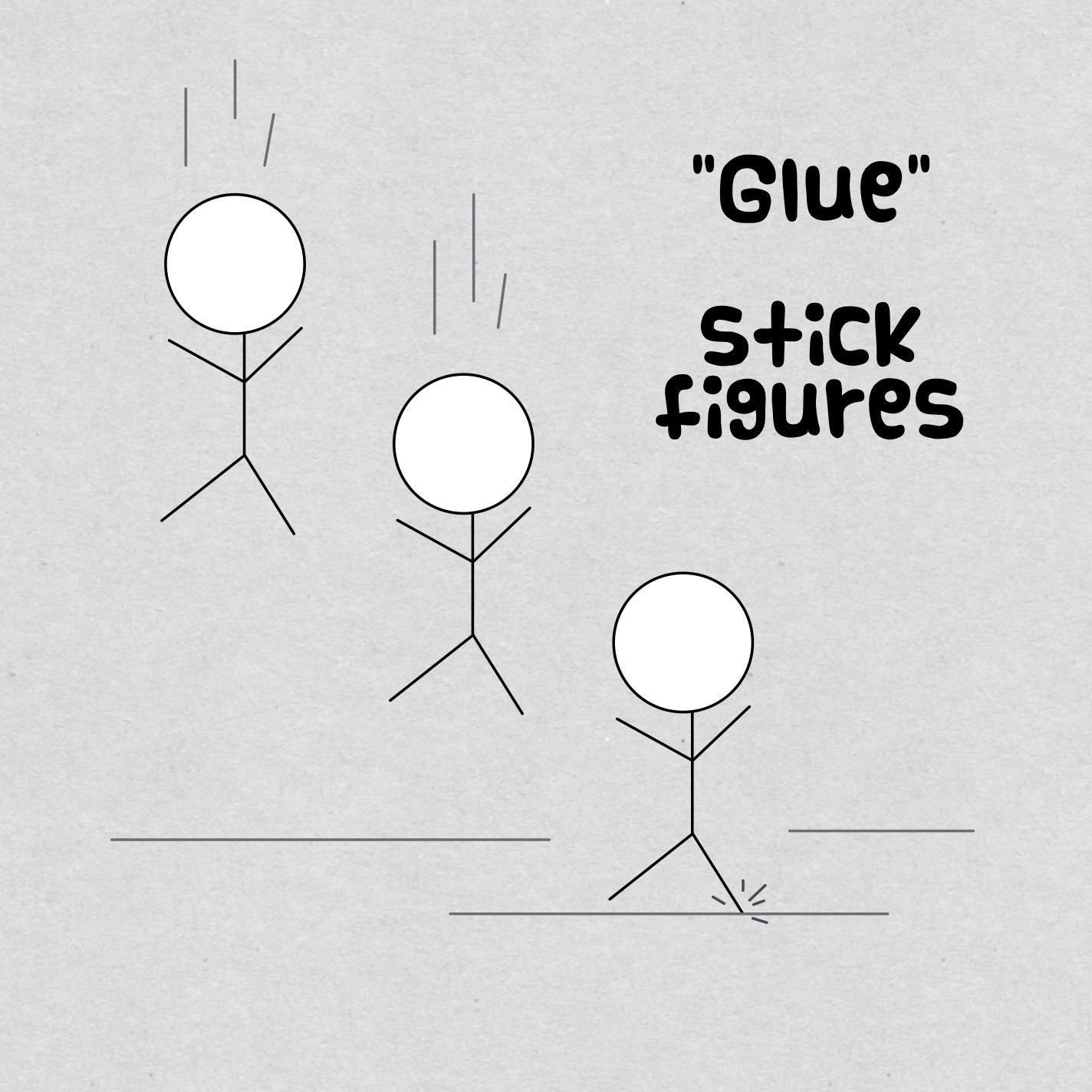 glue stick figures
